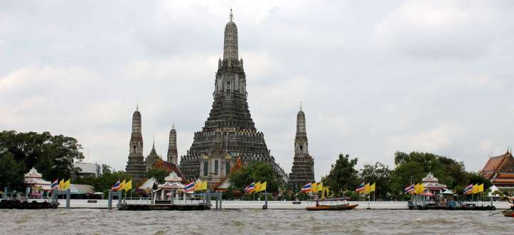 View of Wat Arun from the ferry