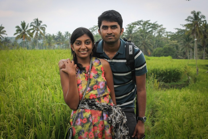 On the way to Gunung Kawi through the rice fields
